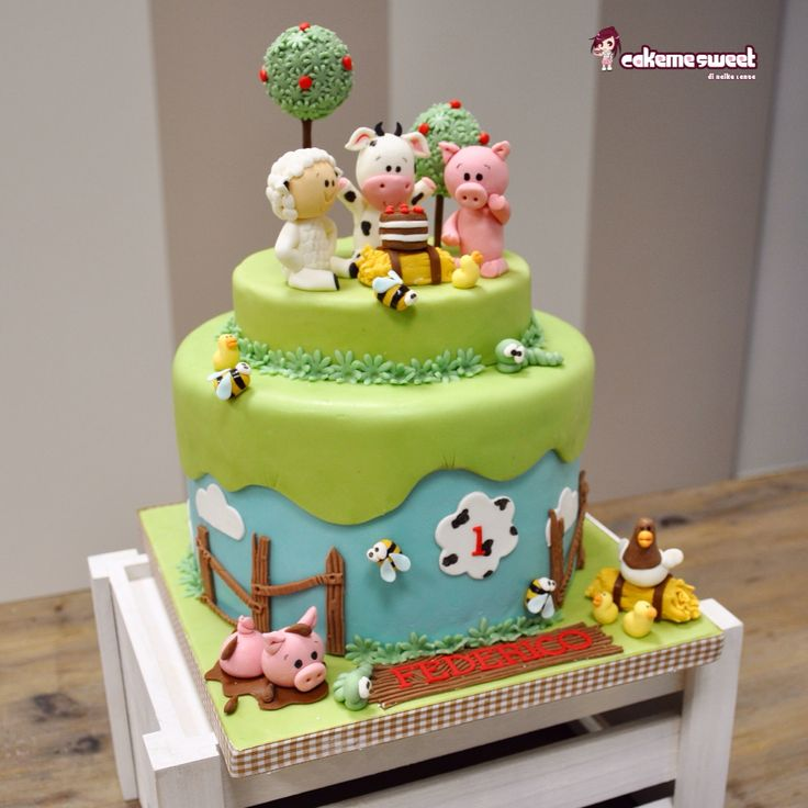 Farm baby cake by Cakemesweet Facebook.com/sweetcakemenay