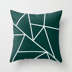 Evergreen Mountains Throw Pillow