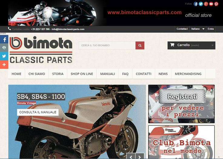 Monday, May 18th will be finally online the  'Bimota Classic Parts' website. Great news await you!
