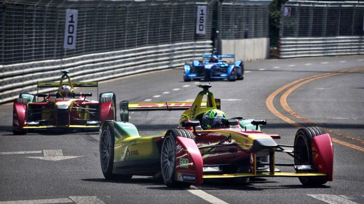 """••FORMULA E RACING•• all-electric car... debuted 2014-09-13 in Beijing! - historic 1st ever E winner: Lucas Di Grassi • but is FE not a contradiction to """"manly"""" roaring noisy gasoline racing as w/ bull fight replaced by gazelle fight or bicycle vs motorcycle? Apparently it was as impressive as Formula 1. • run by same gov. body: FIA (Fédération Internationale de l'Automobile) (hm, also french name, as in FIFA – at least the French or 1 non-American cornered the market too for a change ; )"""