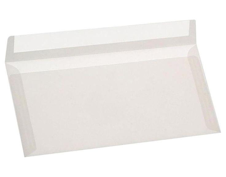 DIN lang transparente Briefumschläge selbstklebend ohne Fenster 100 g/m² Premium