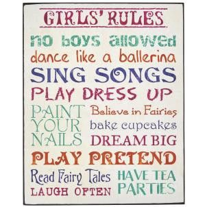 Girls Rules Sign - Amour Decor
