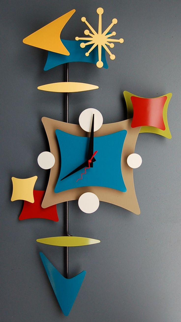 Find This Pin And More On Midcentury Modern  Clocks
