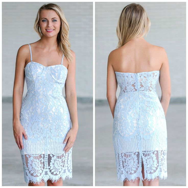 This sky blue lace dress is perfect for Spring and Summer!  http://ss1.us/a/x824pTq5