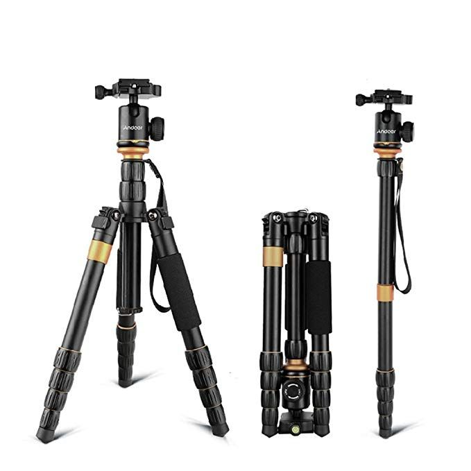 Andoer Dslr Camera Tripod 52inch 132cm Aluminum Tripod Monopod With 360 Ball Head And 1 4 Quick Release P Digital Camera Photography Monopod Panasonic Camera