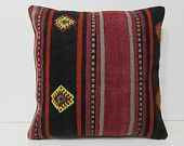20x20 kilim pillow 20x20 large throw pillow oversize pillow case oversized throw pillow euro pillow sham giant pillow cover red pillow 27917