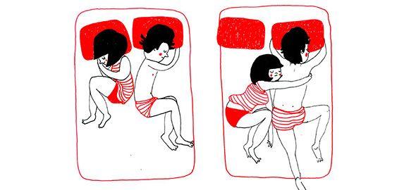 Πώς είναι η ζωή των αγαπημένων ζευγαριών; Οι άβολες αγκαλιές την νύχτα, τα αγουροξυπνημένα «καλημέρα» και όλες οι μικρές στιγμές που κατοικεί η αγάπη, μέσα από 10 τρυφερά σκίτσα!