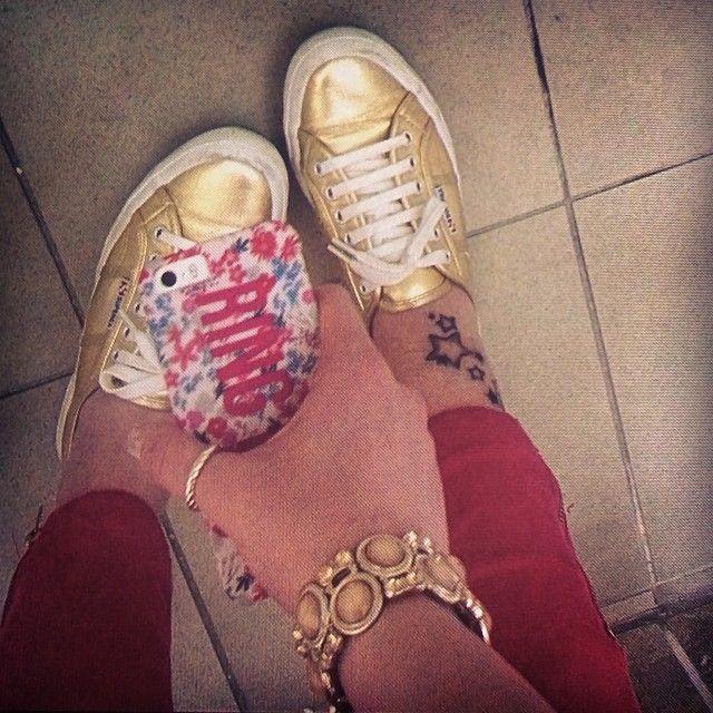 #Pink #Superga #İphone5s #Gold #Tattoo #Stars