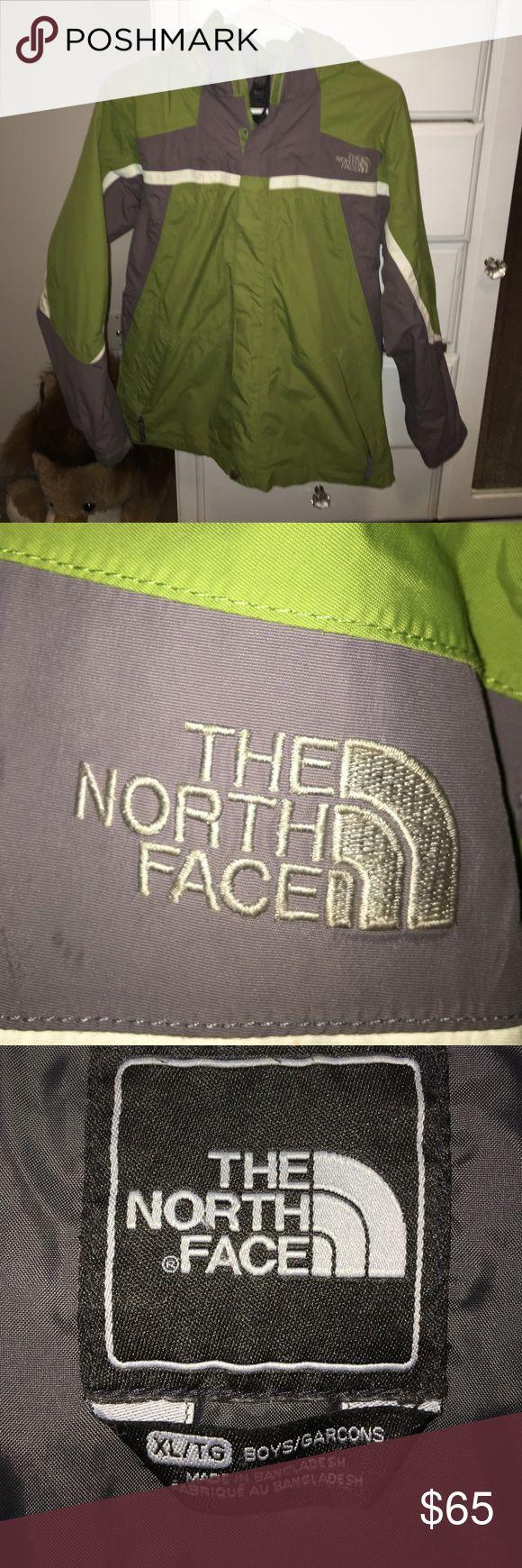 North Face rain jacket Olive green North Face rain jacket. Kids boys XL fits like a women's Medium North Face Jackets & Coats Raincoats