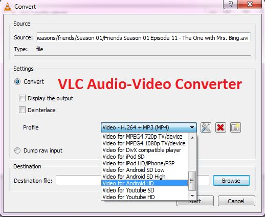 How to convert Audio or Video Files to Any Format Using VLC Media Player VLC Media Player is not just a media player, rather, it is a multipurpose media manager. First, i posted about how to use it to download Youtube videos; now, i will be taking you  through how to use it to convert between different Audio/Video formats.  How to convert Audio or Video Files to Any Format Using VLC Media Player     	Open VLC media player and go to Media> Convert/Save.   	Click Add and select the file you…
