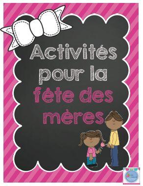 Pour la fête des mères, proposez ces activités à vos élèves. Plus de 25 pages pour divertir vos élèves.