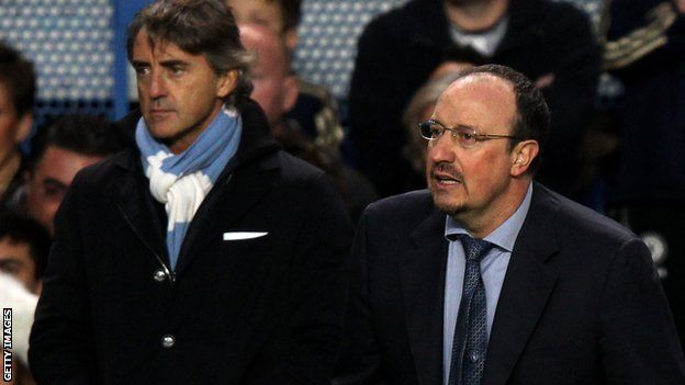 http://visionsport.co.uk/wordpress   Roberto Mancini and Rafael Benitez