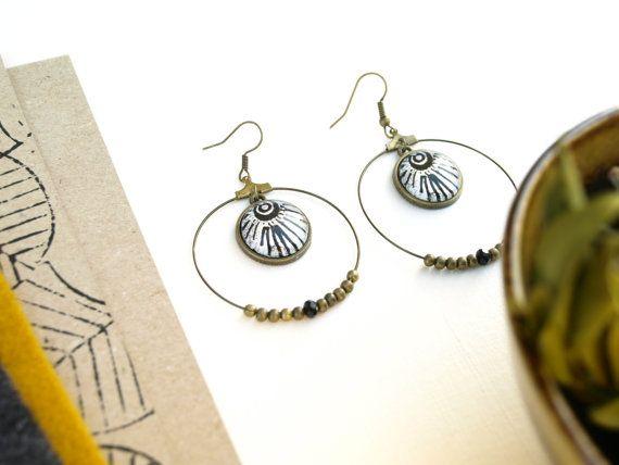 Boucles d'oreilles créoles ethniques bijoux ethnique