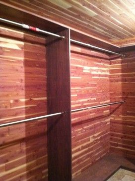 Custom walk-in Cedar Closet for the basement [this one also has a cedar ceiling]