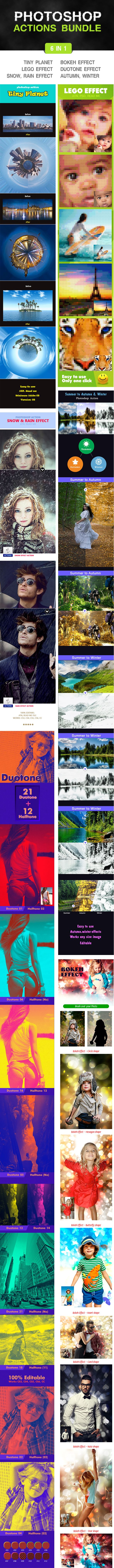 Photoshop Actions Bundle - Photo Effects Actions