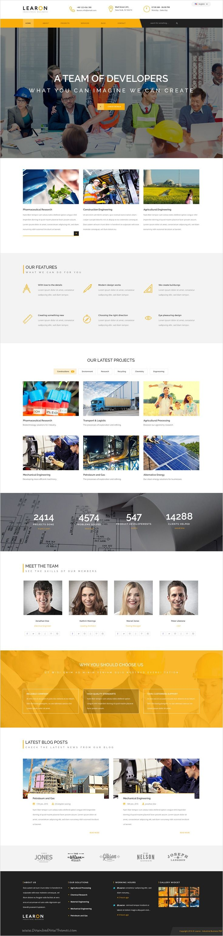 Learon is beautifully design perfect PSD #template for #construction #company, industrial companies, mechanical, engineering, chemical industry with 3 unique homepage layouts and 11 organized PSD files website download now➩ https://themeforest.net/item/learon-industrial-business-psd-template/17243158?ref=Datasata