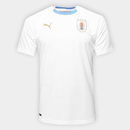 Camisa Seleção Uruguai Away s n° 2018 - Torcedor Puma Masculina - Branco 8a92bfdb24ed2