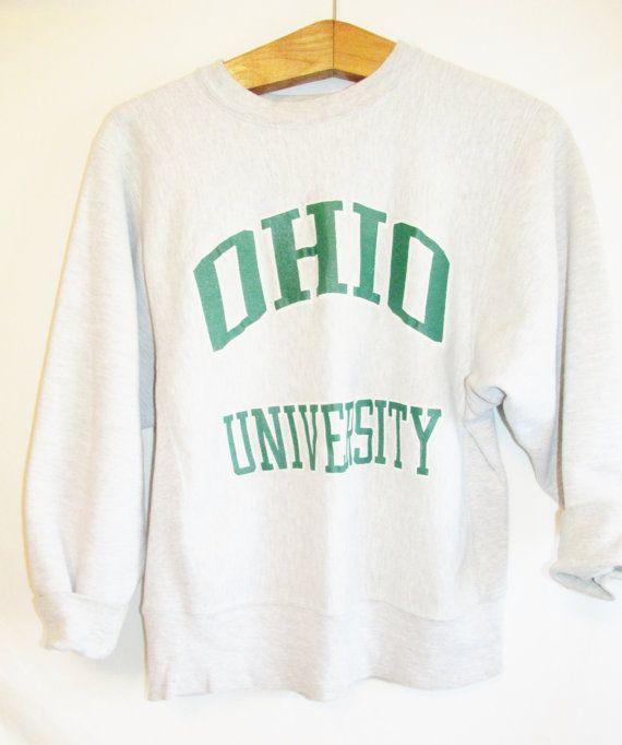 Vintage 1990's Ohio University Sweatshirt by FreshtoDeathVintage