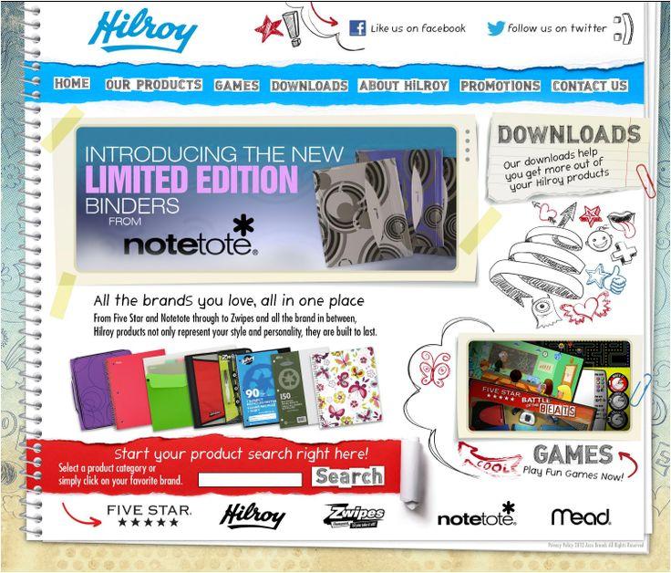 Acco Brands - Hilroy.ca Web Site