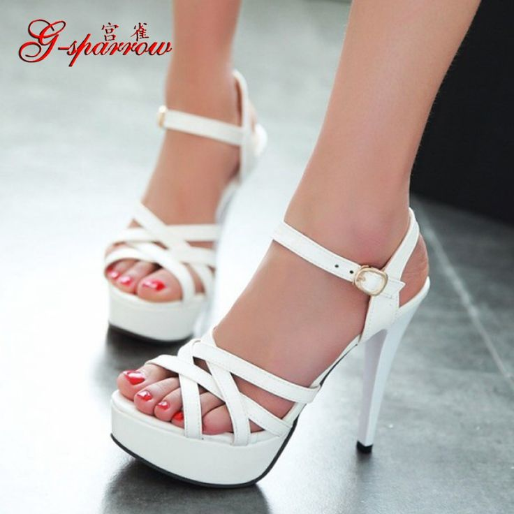 >> Click to Buy << Most Comfortable Summer Bass Classics Peep Toe Sandals High Heel Cheap Platform Stiletto Shoes Women White Black Red Yellow Pink #Affiliate