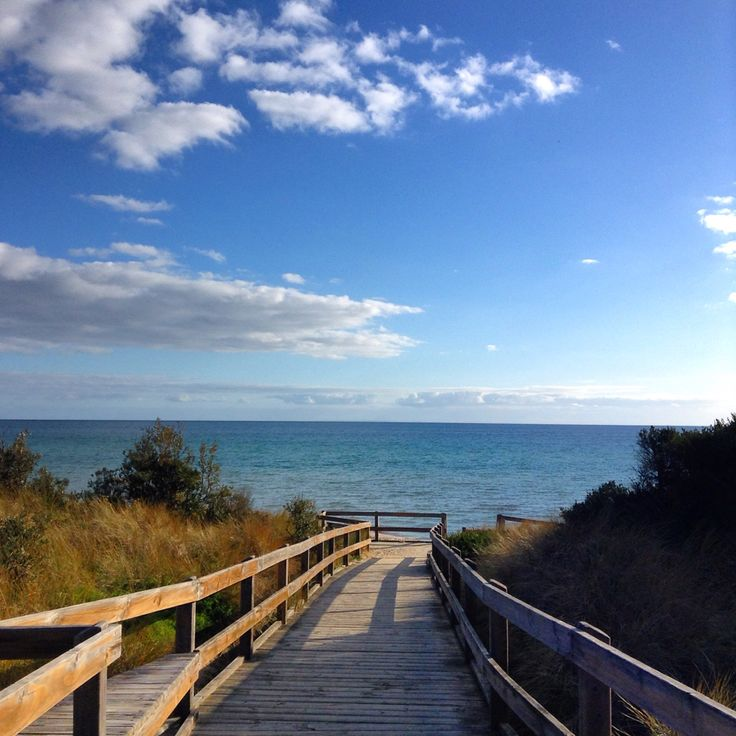 Up on the boardwalk at Seaford, Melbourne, Australia