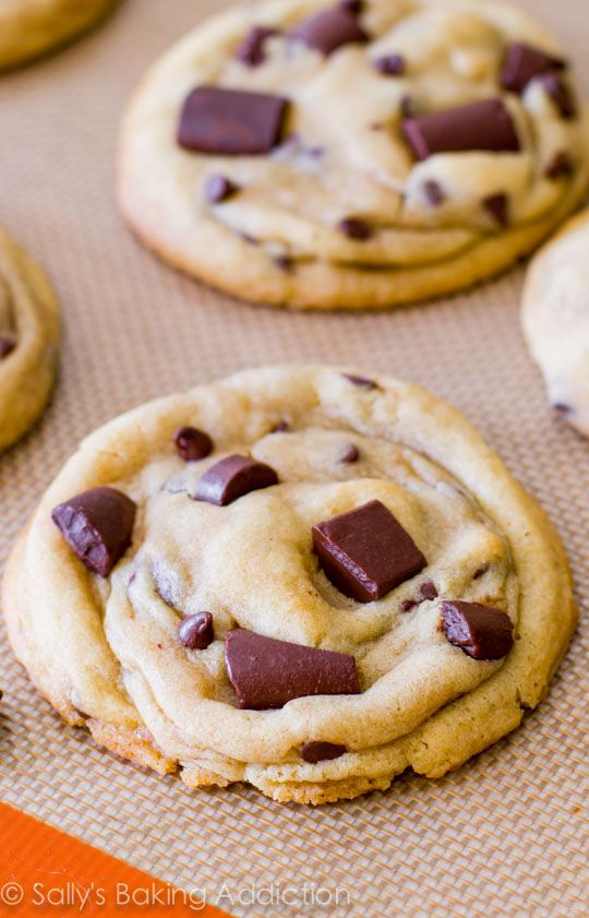 Chewy Chocolate Chunk Cookies - learn the secrets to making them soft and thick! sallysbakingaddiction.com