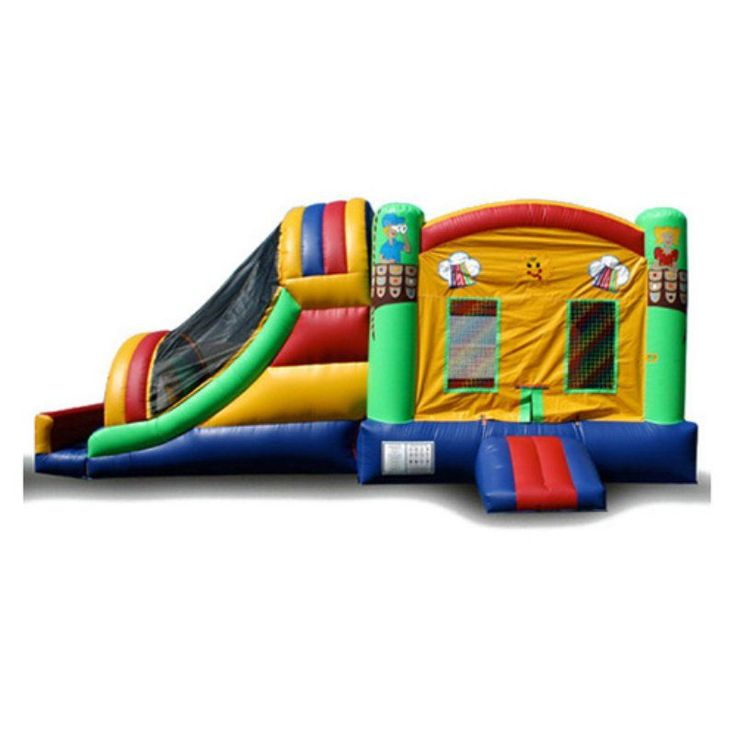 EZ Inflatables Fun House Water Bounce House Combo - C159