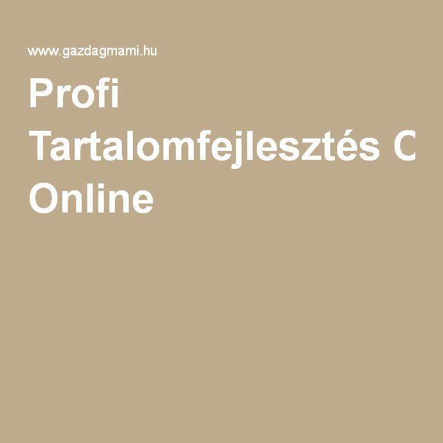 Profi Tartalomfejlesztés Online