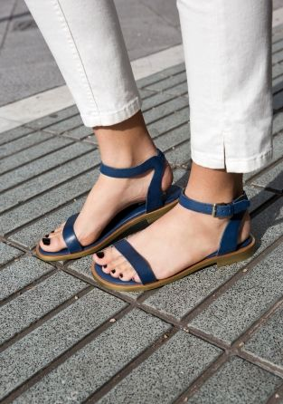 Lovely blue flat sandals