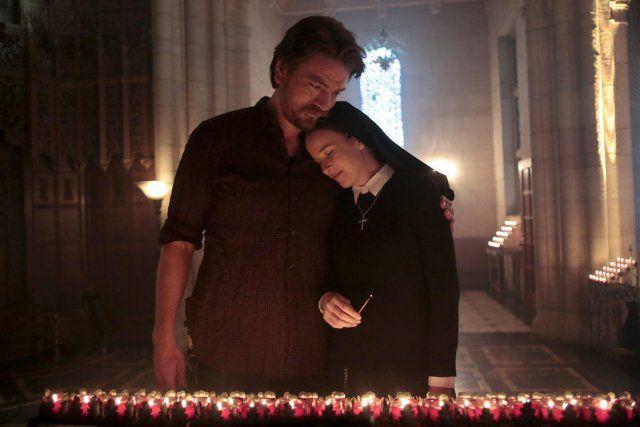 stills from Constantine tv show | Still of Charles Halford and Claire van der Boom in Constantine (2014)