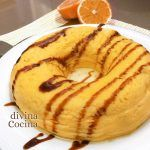 Flan de naranja con leche condensada