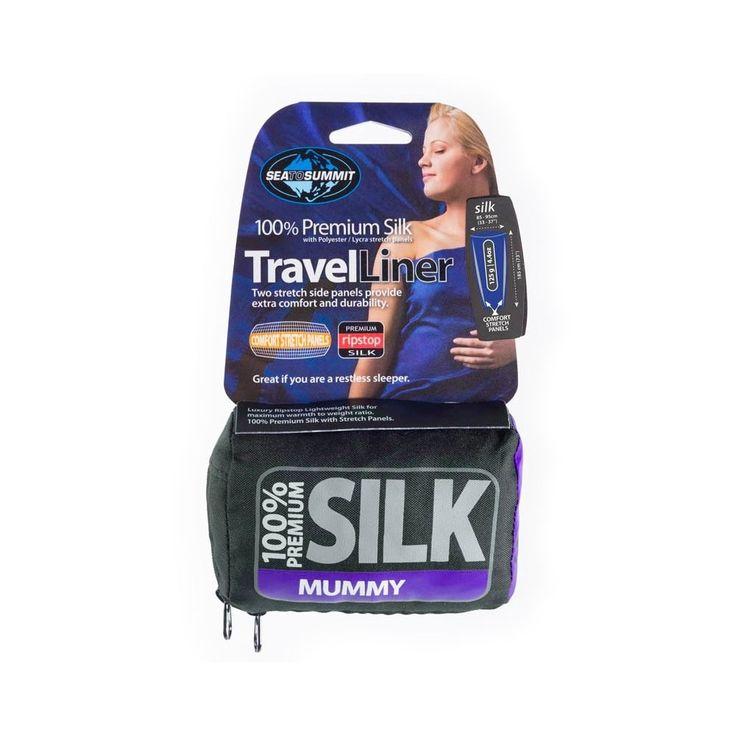 Sea to Summit Silk Stretch Panel Liner - Mummy | Ultralight Outdoor Gear