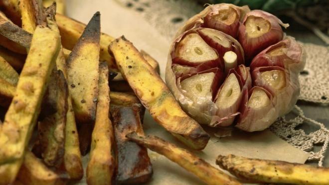 Chips de batata doce com falsa maionese de alho - Prato do Dia 2 | 24Kitchen