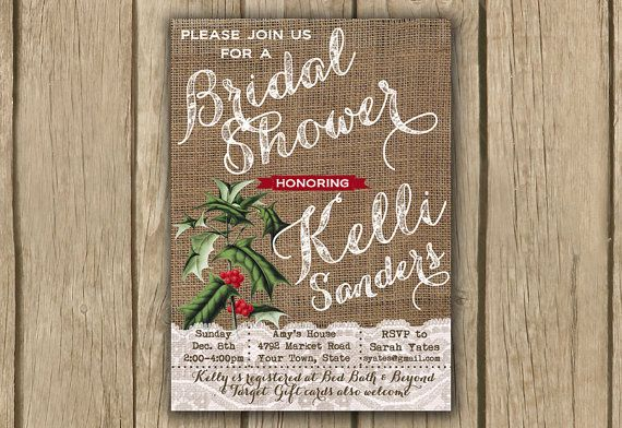 Christmas bridal shower shower invite by DulceGracePrintables, $14.00