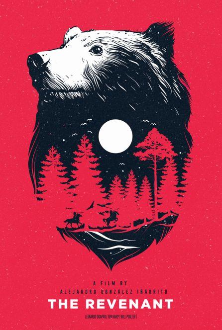 The Revenant (2015) ~ Alternative Movie Poster by Viraj Nemlekar #amusementphile