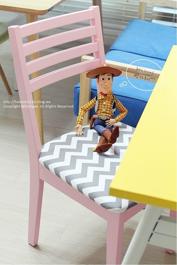 오래된 의자 산뜻한 북유럽 스타일로 변신시키기 The Classy Premium Paint (SHS 0530-R20B) by 말괄량이