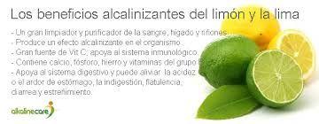Resultado de imagen de beneficios nutricionales AGUA CON LIMON