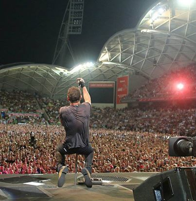 """naughty-bruce: """" mic stand slut """" ahhh his back muscles ruin my life, but wow! #BruceSpringsteen"""