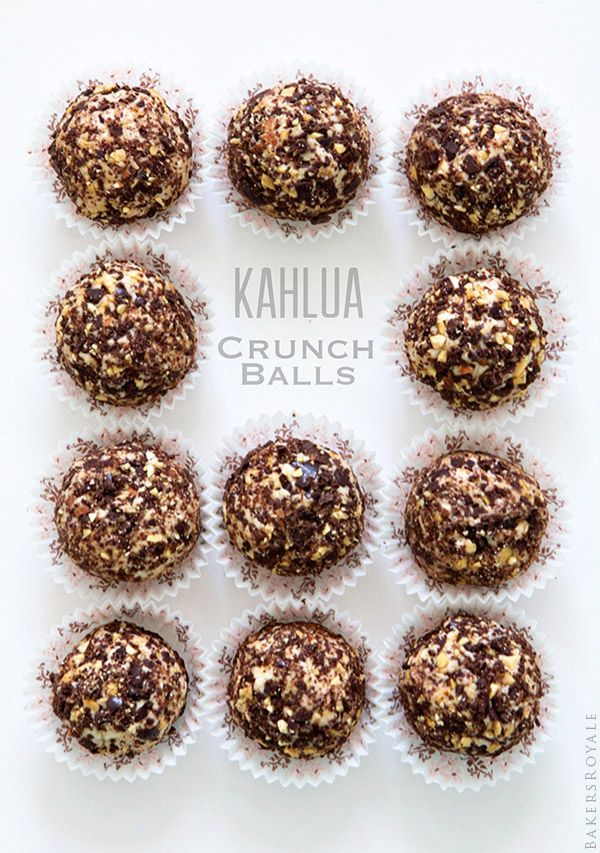 Kahlua Crunch Balls via Bakers Royale