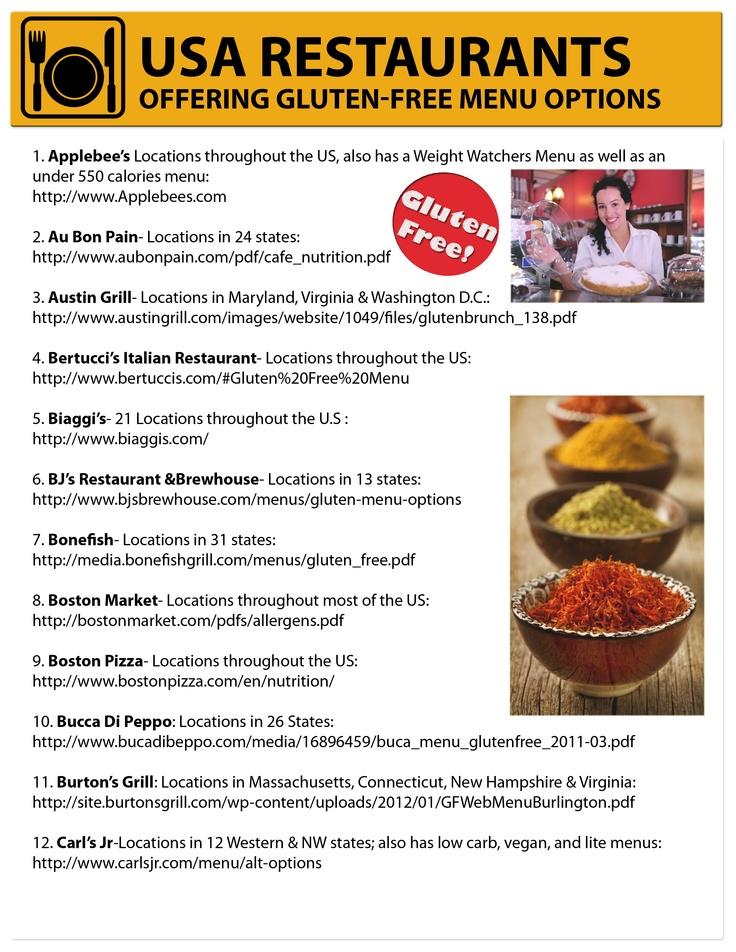 Mejores 231 imgenes de gf p df learning en pinterest recetas sin list of gluten free restaurants google search forumfinder Choice Image