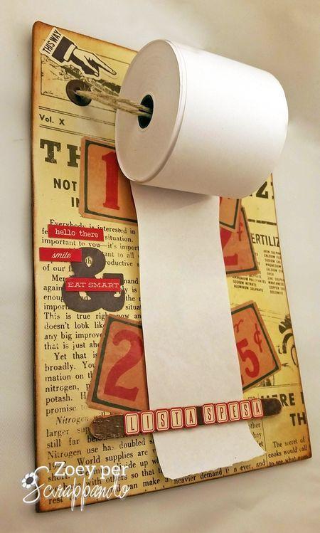 Rotolo carta per appunti spesa