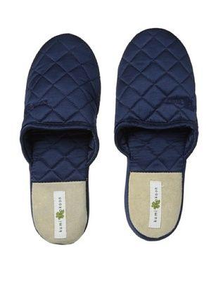 47% OFF Kumi Kokoon Quilted Silk Slippers (Indigo)