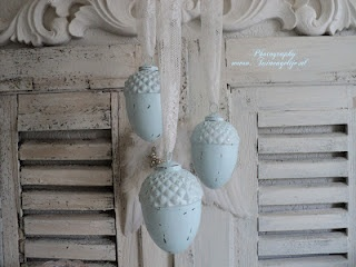 pale blue hanging ornaments
