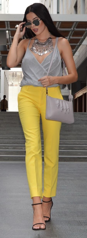 Yellow Zara Pants See more at http://www.spikesgirls.com