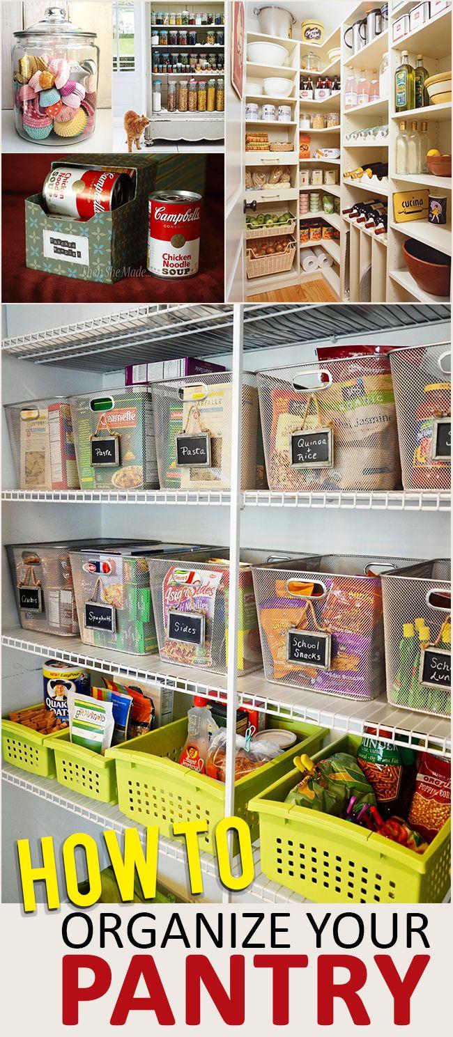 best 25 organize food pantry ideas on pinterest kitchen organization organize small pantry. Black Bedroom Furniture Sets. Home Design Ideas
