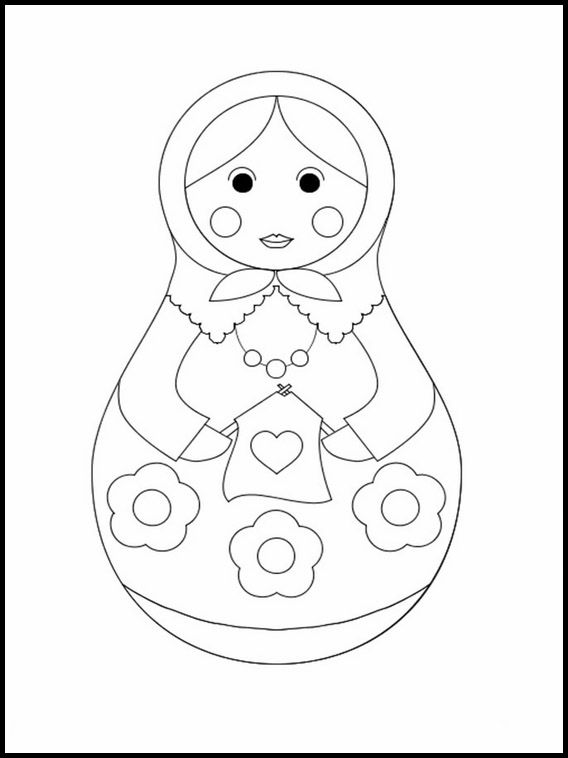 Matrioshka 8 Printable Coloring Pages For Kids Coloring Pages