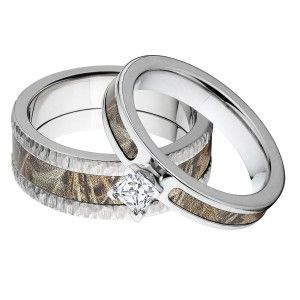 camo rings sets matching realtree premium tree bark finish - Realtree Camo Wedding Rings