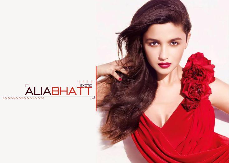 Bold and sexy Alia Bhatt in red dress hd pics