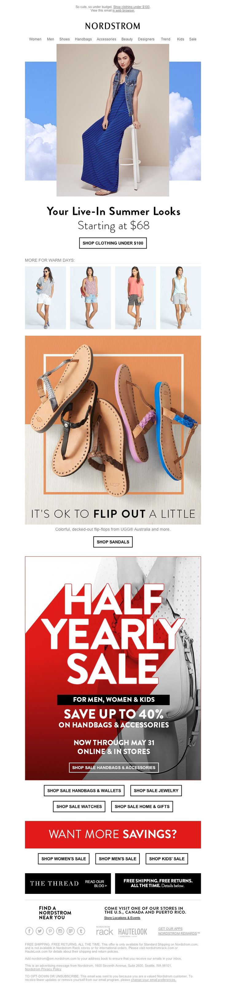 Nordstrom - Smile! Treat Yourself to Our Summer Staples for As Low As $68 + More for Warm Days