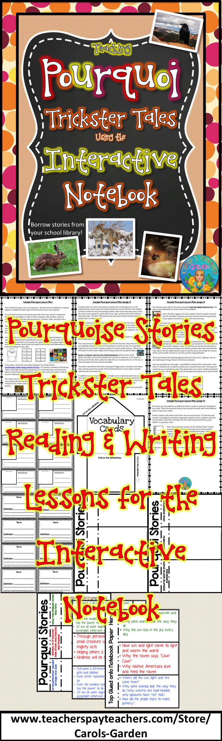 teaching pourquoi trickster tales using the interactive notebook vocabulary cards. Black Bedroom Furniture Sets. Home Design Ideas
